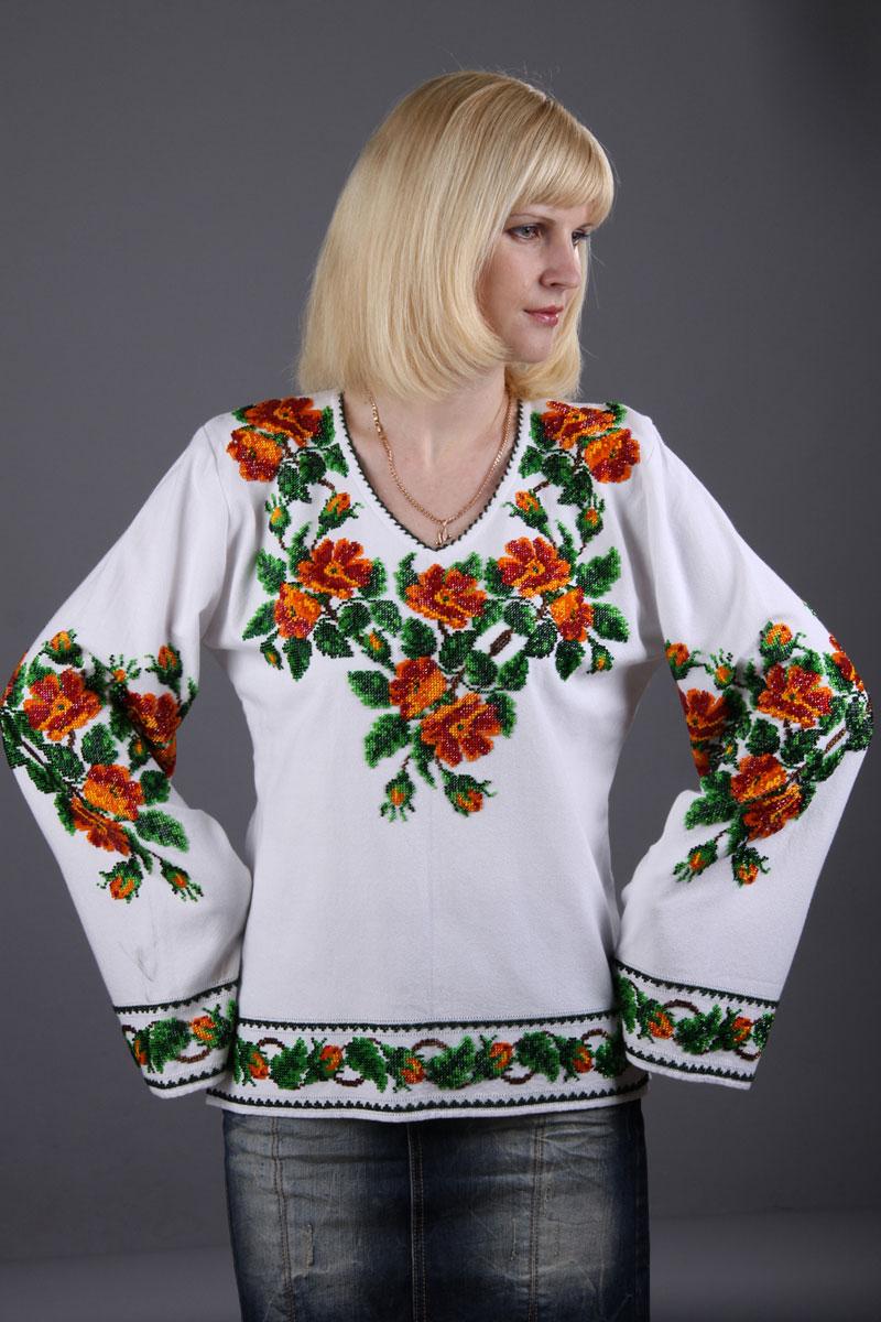 Рубашка женская цветение персика