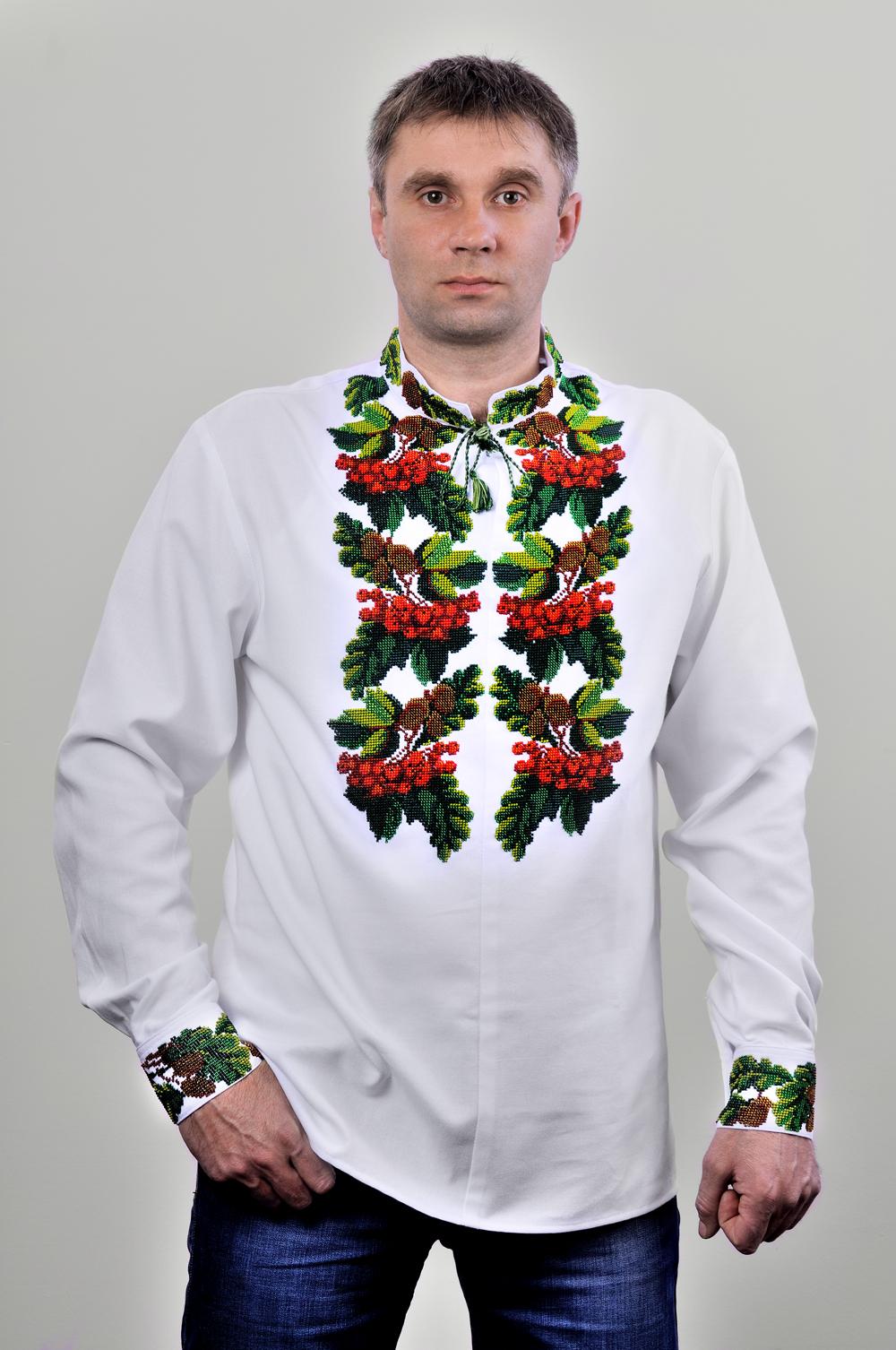 Чоловічі вишиванки бісером купити в Києві 441d3433a40ce
